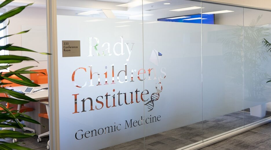 Privacy Film Graphic Installed in Rady Children's Institute | San Diego, CA