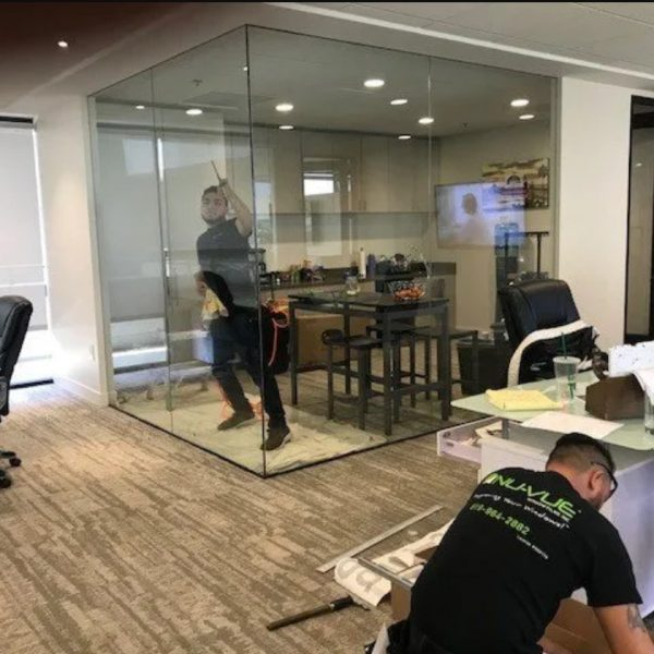 window film in commercial building